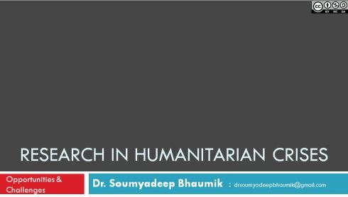 Research in Humanitarian Crises : Opportunities and Challenges powerpoint show