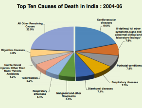india cause of death old